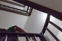 viele Treppen, sehr viele, zu viele
